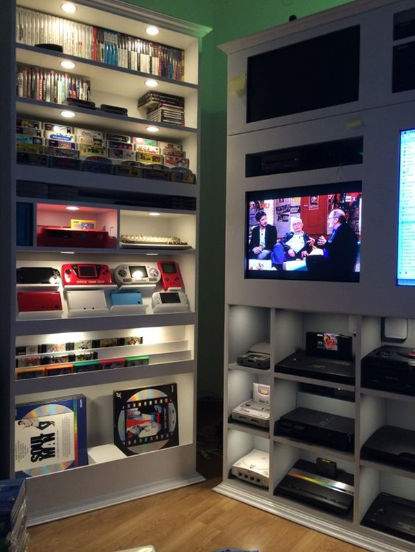 15 cool ways to video game controller storage home for Video game room design ideas