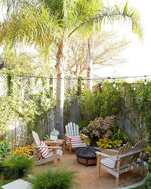 narrow backyard garden