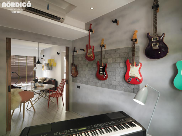 cool nordic home with music elements home design and