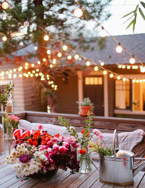 romantic-backyard-lights-with-flower-garden Narrow Vegetable Garden Design Ideas on narrow house design ideas, narrow living room design ideas, narrow pergola design ideas, narrow landscaping ideas, narrow gardening ideas, narrow bathroom design ideas, narrow backyard design ideas,