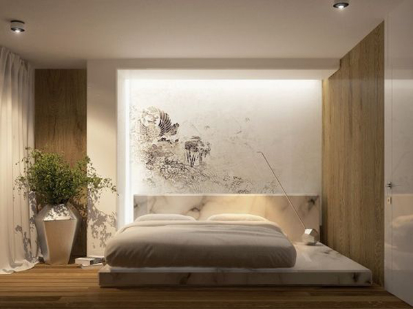 . simple and modern bedroom lights with japanese style   Home Design