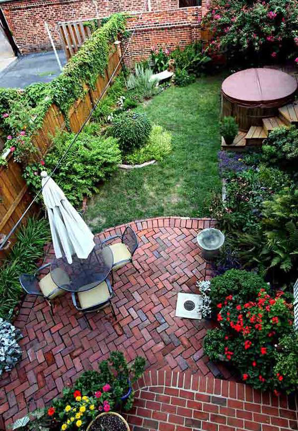 20 lovely backyard ideas with narrow space home design ForSmall Garden Decoration