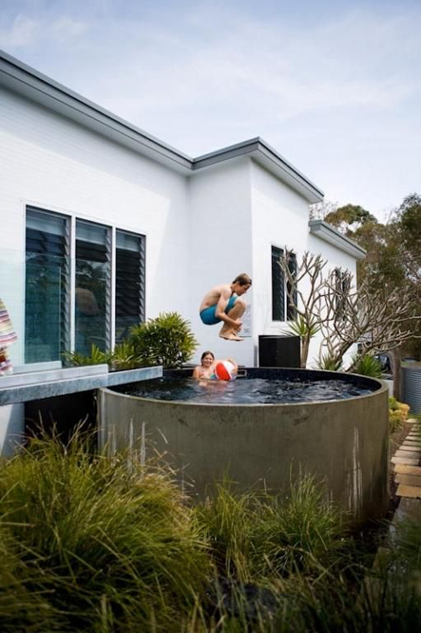 Small Backyard Tank Plunge Pool