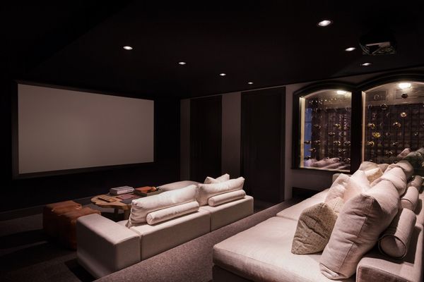 Small home theater design - Best paint color for home theater ...