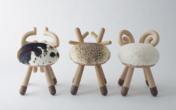 3 Small Kids Chairs With Animal Theme