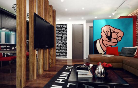 studio-apartment-with-pop-art-interior