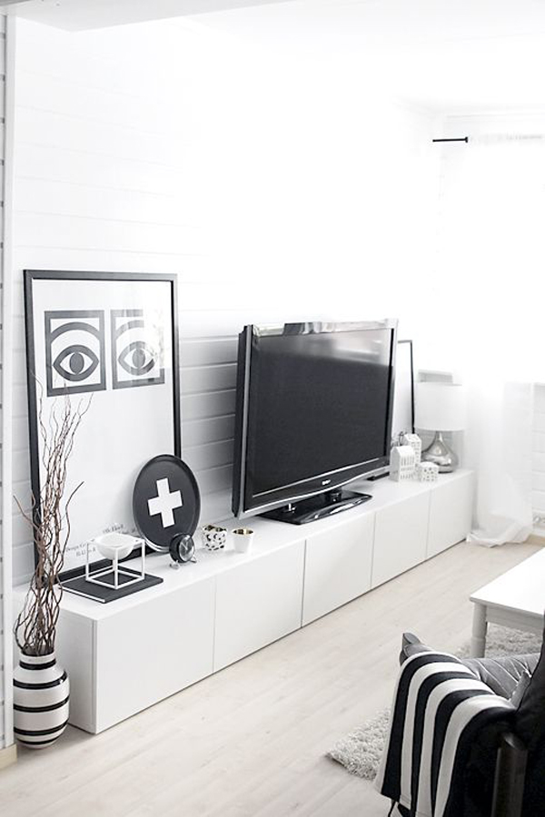 White Ikea Besta Tv Units