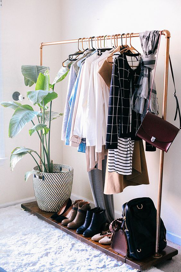 Diy Metal Clothes Rack And Shoe Storage