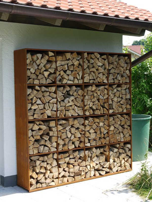 20 excellent diy outdoor firewood storage ideas home for Log storage ideas