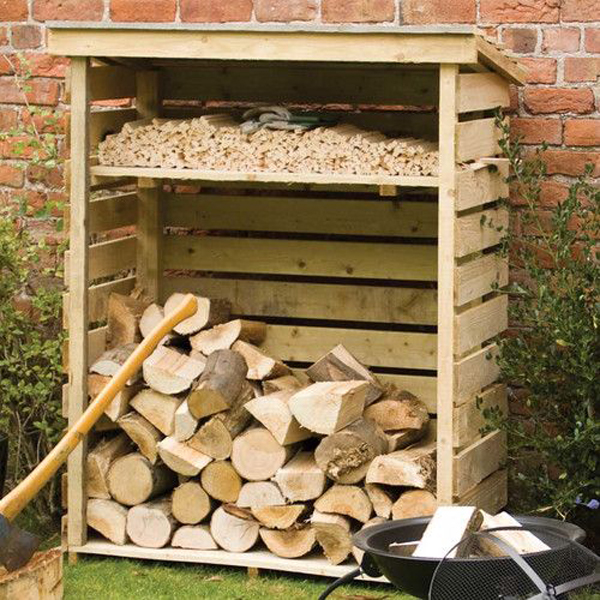 Excellent diy outdoor firewood storage ideas home