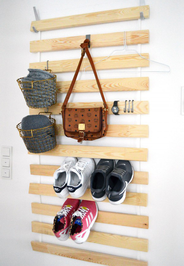 Ikea bags and shoes wall hanging storage for Hanging organizer ikea