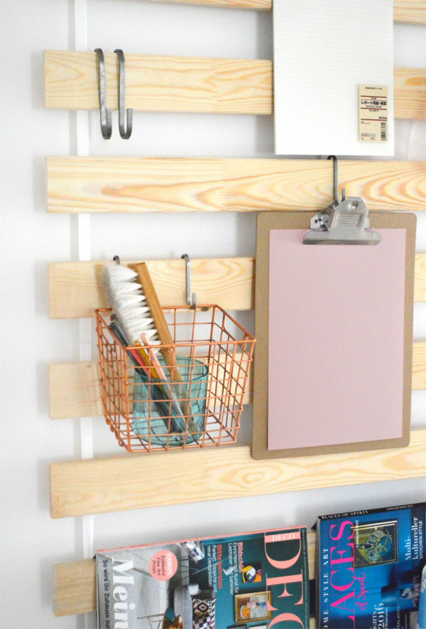 IKEA Bed Slats Wall Hanging Organizers For Every Room  -> Ikea Wandregal Hack