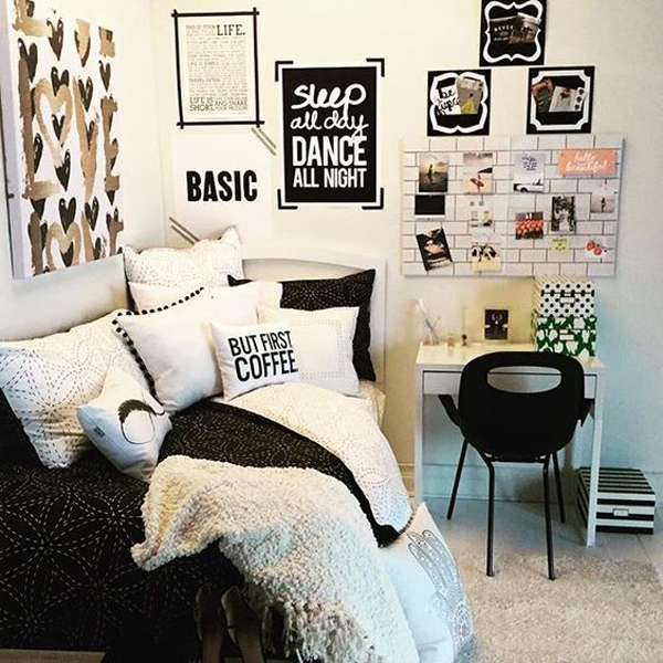 beautiful-black-and-white-girl-bedrooms | Home Design And ...