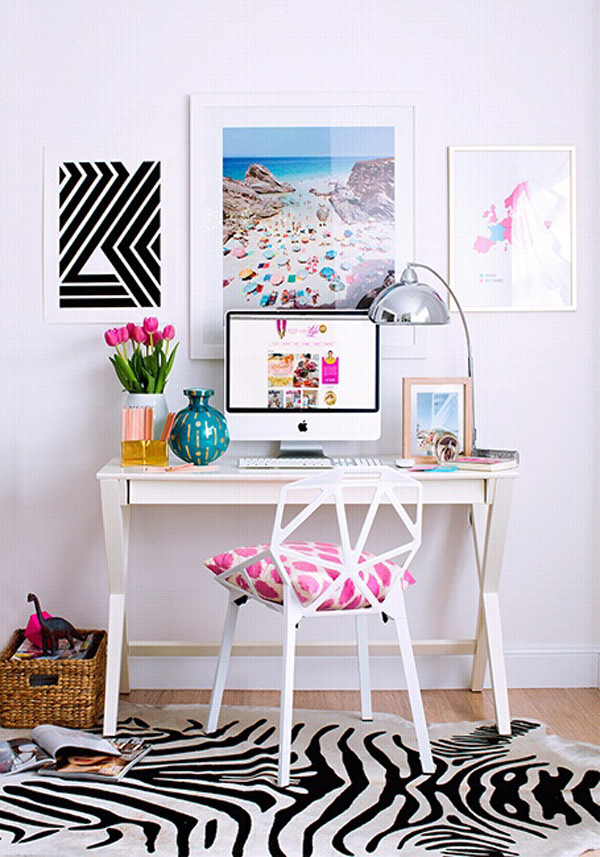 Bright and minimalist home office design for My minimalist home