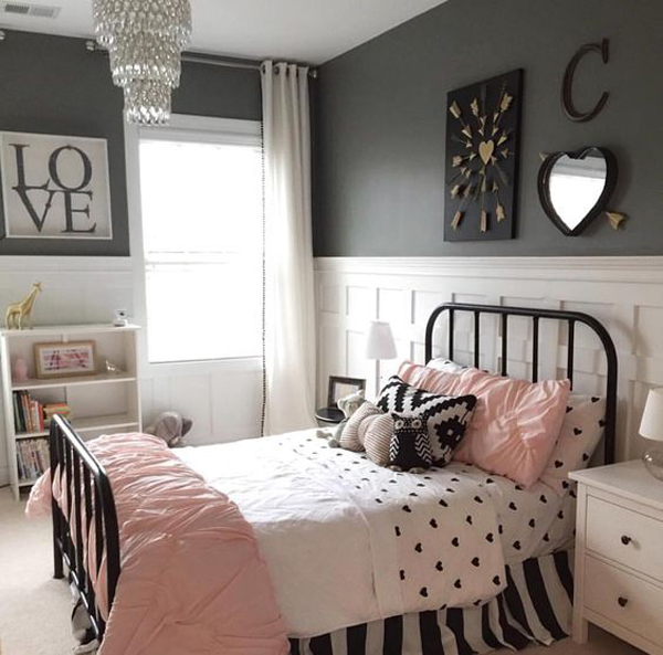 10 black and white bedroom for teen girls home design for Older girls bedroom designs