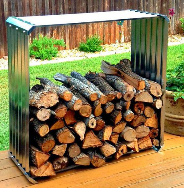 20 Excellent DIY Outdoor Firewood Storage Ideas | Home Design And ...