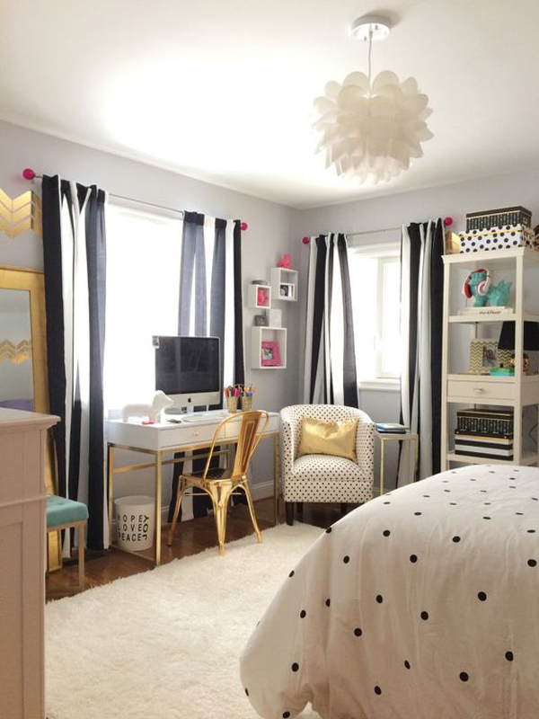 you will see creative and inspired design that will give your bedroom a dream in black and white i think every teen girl would be hard to miss them