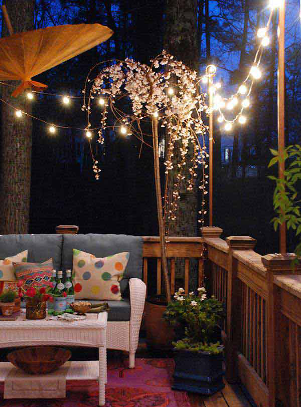 20 amazing string lights for your outdoor patio home for Terrace lighting