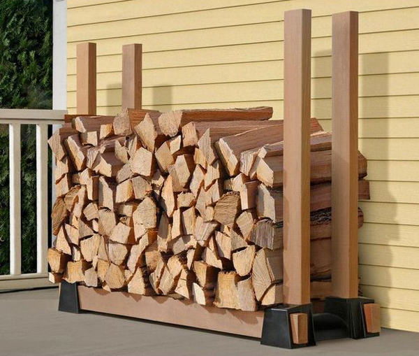 Gallery of 20 Excellent DIY Outdoor Firewood Storage Ideas