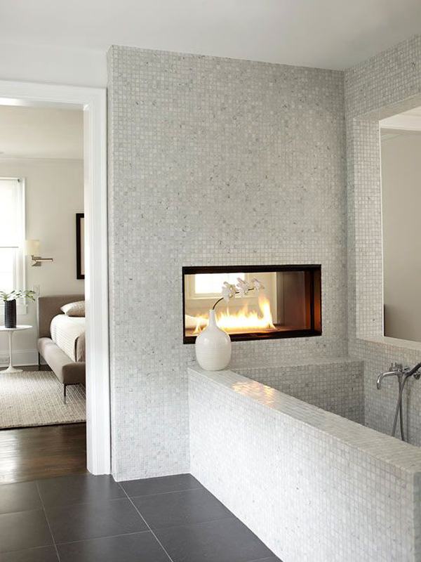 25 Cozy And Mesmerize Bathrooms With Fireplaces Home Design And Interior