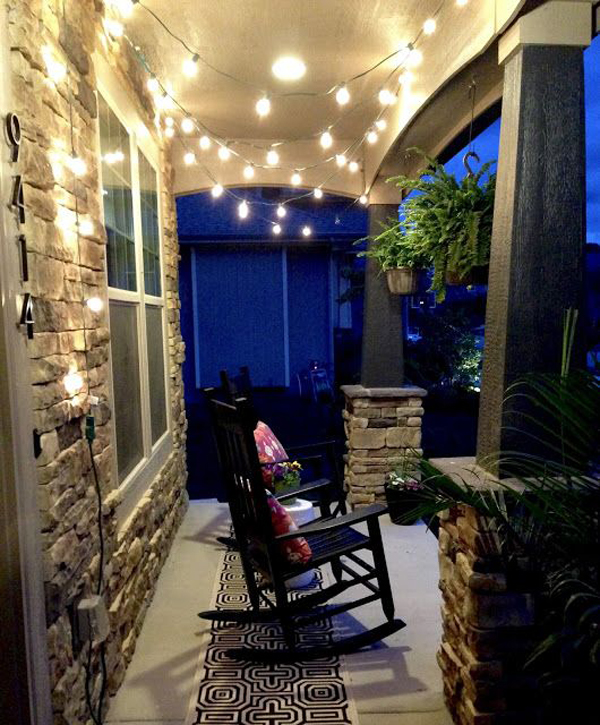 small patio string lighting ideas