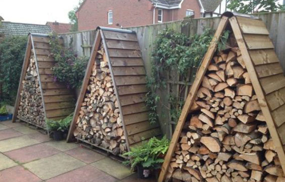 triangle-outdoor-firewood-storage-ideas