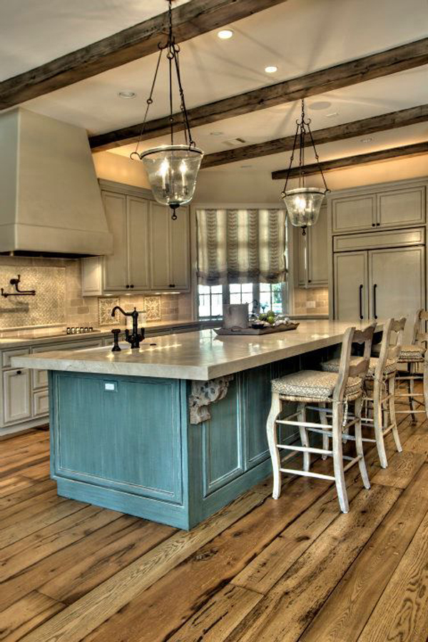 Amazing rustic kitchen ideas for Country kitchen floor ideas
