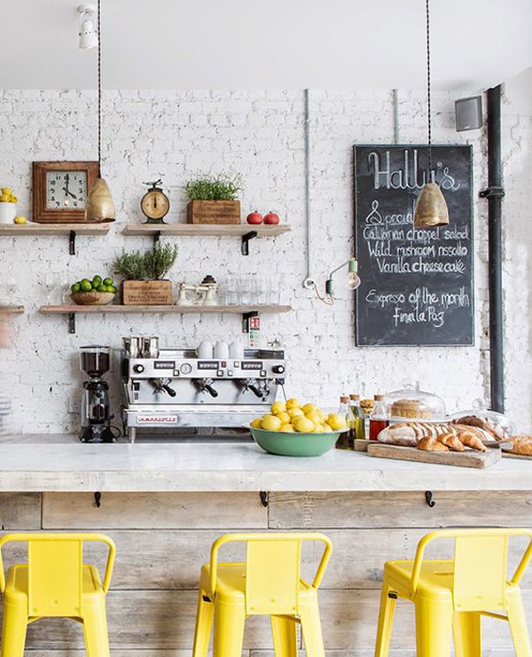 White Kitchen Wall Decor : Minimalist kitchens with exposed brick walls home