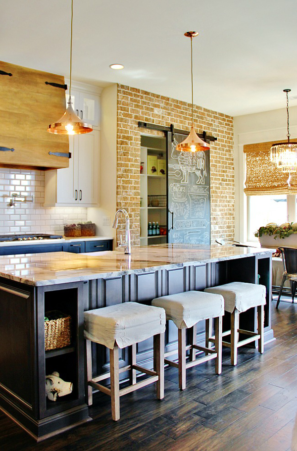 20 Minimalist Kitchens With Exposed Brick Walls