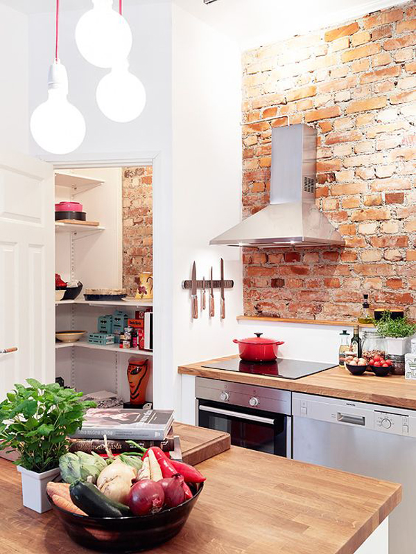 20 minimalist kitchens with exposed brick walls  homemydesign