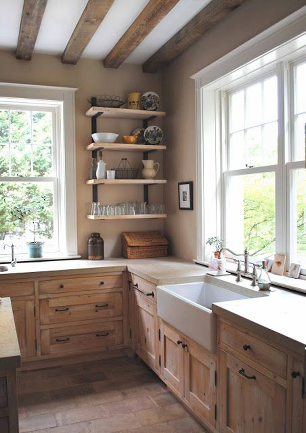 Cozy vintage kitchen with rustic features - Vintage kitchen features work modern kitchen ...