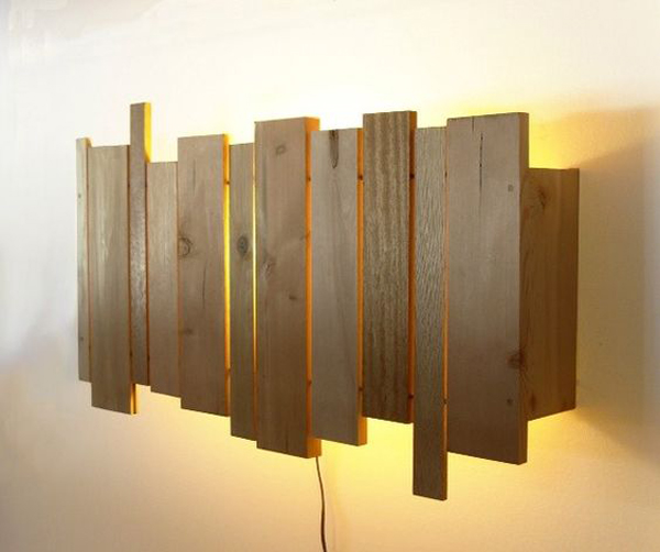 Easy Diy Wood Lamp Wall Home Design And Interior