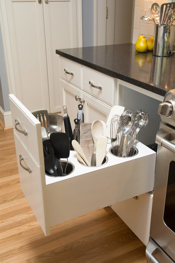 Hidden kitchen drawer storage for Hidden kitchen storage ideas
