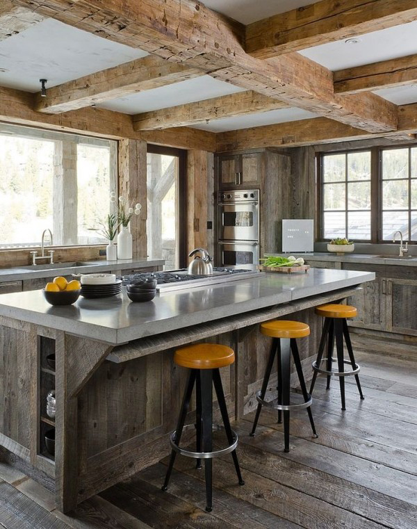 Merveilleux Industrial Rustic Kitchen With Wood Accents. «