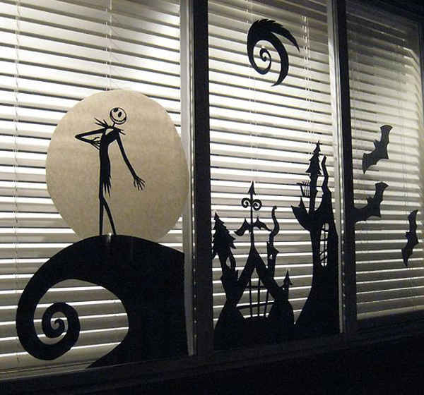 25 Scary DIY Halloween Window Silhouettes | Home Design And Interior