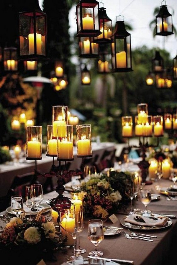 & outdoor-halloween-wedding-ideas-with-candle-lights