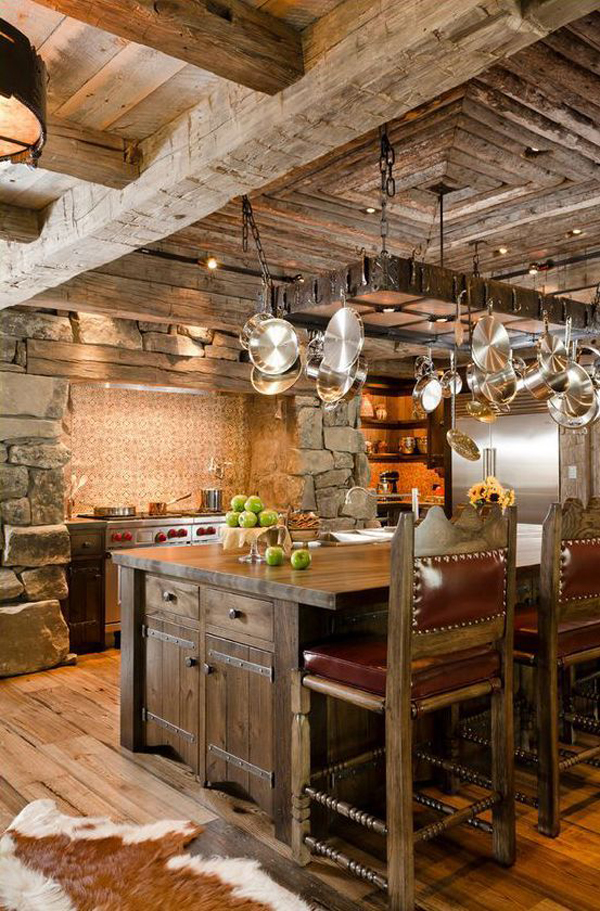 27 vintage kitchen design with rustic styles home design for Warm kitchen designs