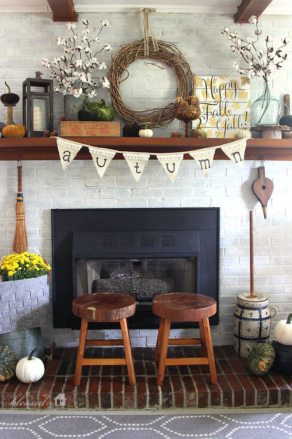 Rustic mantel designs