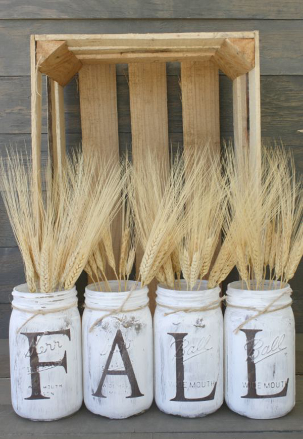 25 diy fall decor ideas with rustic elements home design for Homemade fall decorations for home