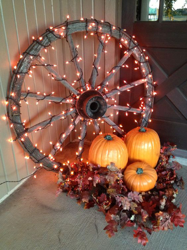Diy rustic fall lighting ideas for Light decorations home