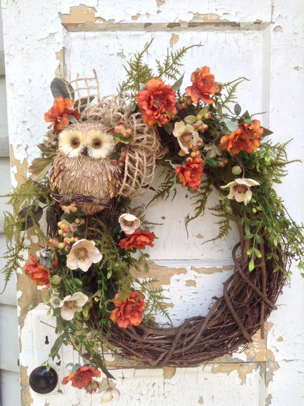 diy rustic fall wreaths