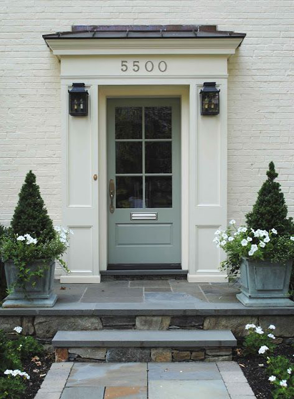25 eclectic front doors with pastel colors home design - Front door colors for grey house ...