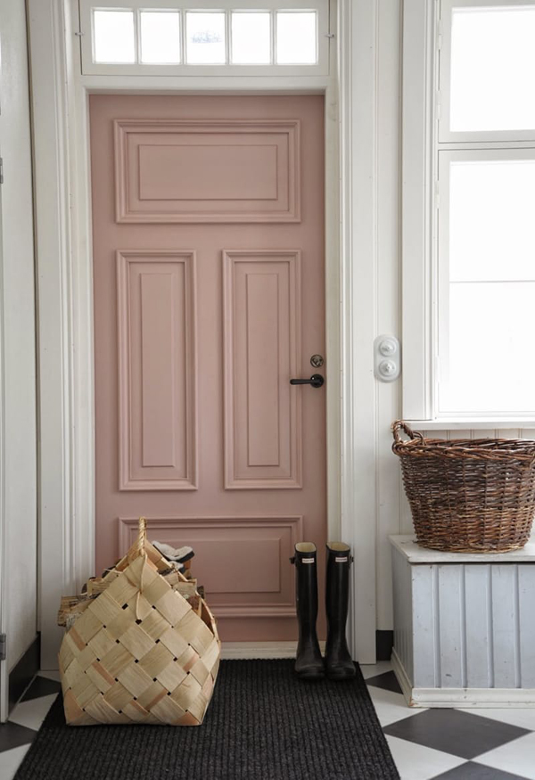 Dusty Blues Pink Front Door Colors Home Design And Interior