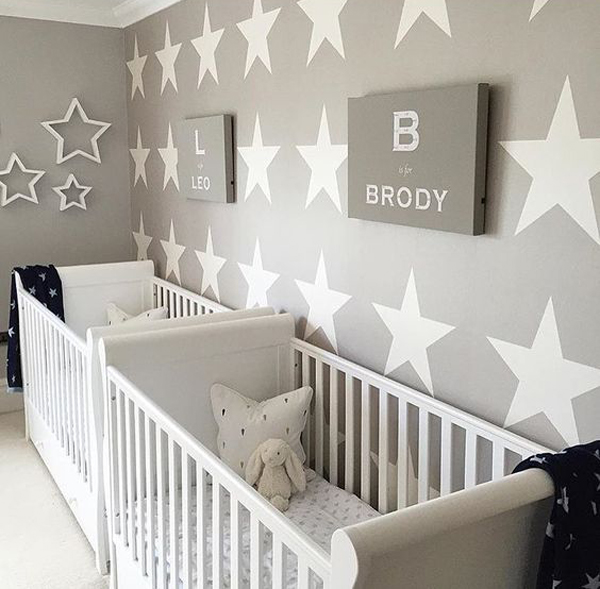 35 Cute Twin Nursery With Warm Colors Homemydesign