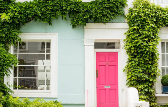 hot-pink-front-door-ideas