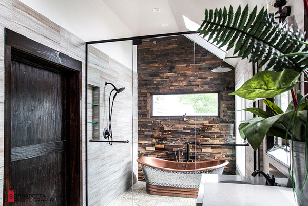 Modern Bathroom With Rustic Elements Home Design And Interior