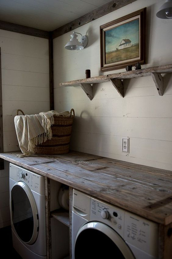 10 Most Awesome Laundry Room With Rustic Touches Home Design And