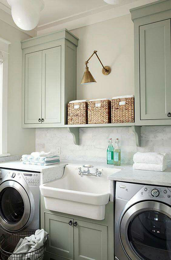 10 most awesome laundry room with rustic touches home for Laundry home
