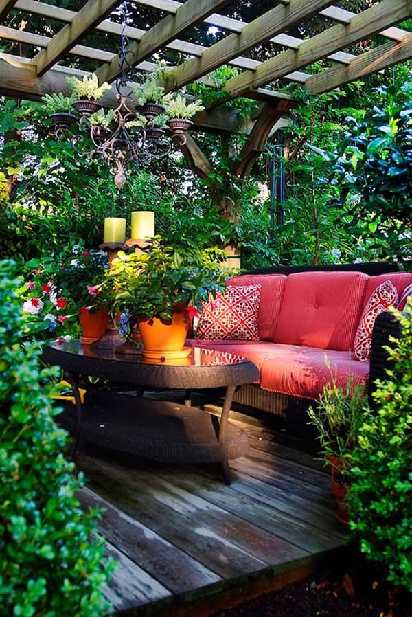 Home with garden pictures : Outdoor reading nooks with the secret garden home design and interior
