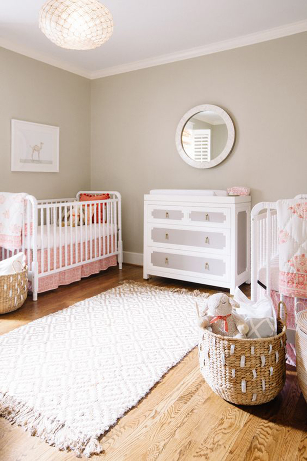 Design Of Baby Room: 35 Cute Twin Nursery With Warm Colors